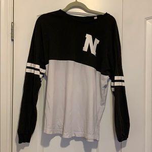 Northeastern University long sleeve jersey shirt